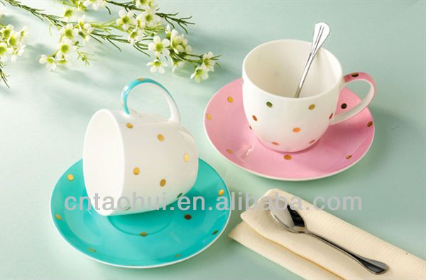 Ceramic cheap tea cups and saucers