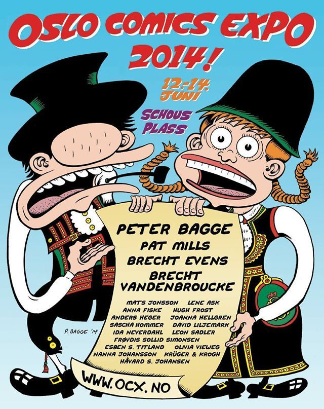 Oslo Comics Expo poster by Peter Bagge