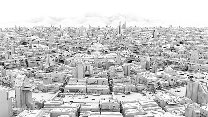Cityscape - Ambient Occlusion Pass