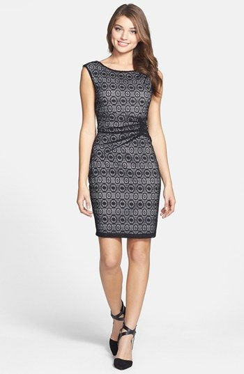 Marc New York by Andrew Marc Ruched Lace Sheath Dress (Regular & Petite) available at #Nordstrom