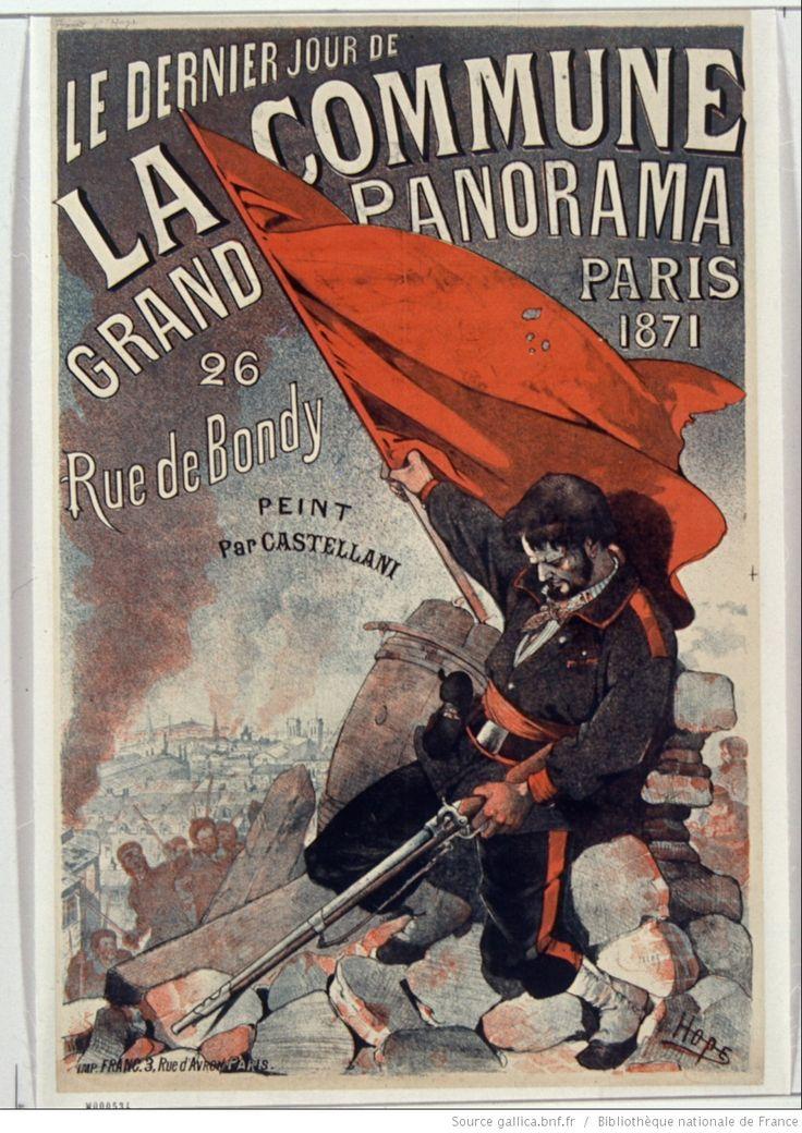 Le Dernier jour de la Commune, Paris 1871. Grand panorama, 26 rue de Bondy peint…