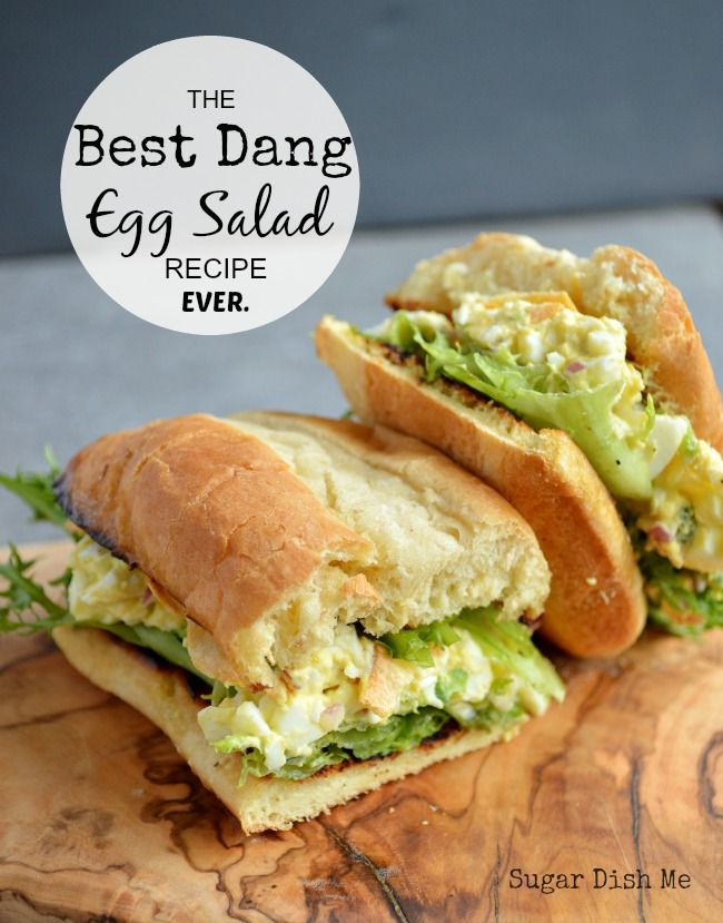 Best Dang Egg Salad Recipe Ever is loaded with bacon, white wine vinegar & jalapenos on thick slices of bread; it really is the best dang version ever!