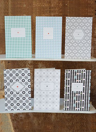 pattern papier tigre motifs geometric geometrique cards cartes pack