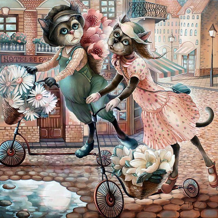 Картинки для декупажа смешные кошки, праздником сентября