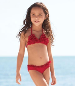 Red Petals Swimsuit Chasing Fireflies Looks Jorgi