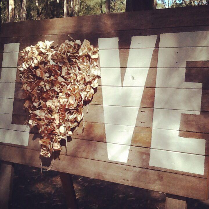 Paper flower hearts