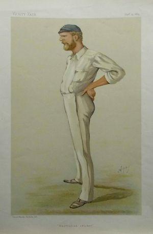 """Australian cricket"" [George John Bonner] by Apey [Carlo Pellegrini]"