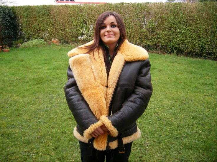 GENUINE POLDEN SHEEPSKIN FLYING JACKET ONLY WORN ONCE SIZE 46 ...