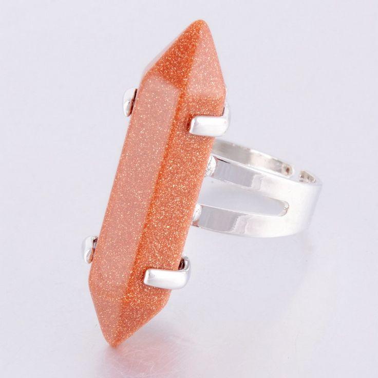 Aliexpress.com: Купить Горячая распродажа призма Cut Crytal кварцевые самоцветы зеленый желтый натуральный камень кольца позолоченные кольца новинка женские обручальные кольца из Надежный Кольца поставщиков на Yiwu Miaolan Jewelry Co., Ltd.
