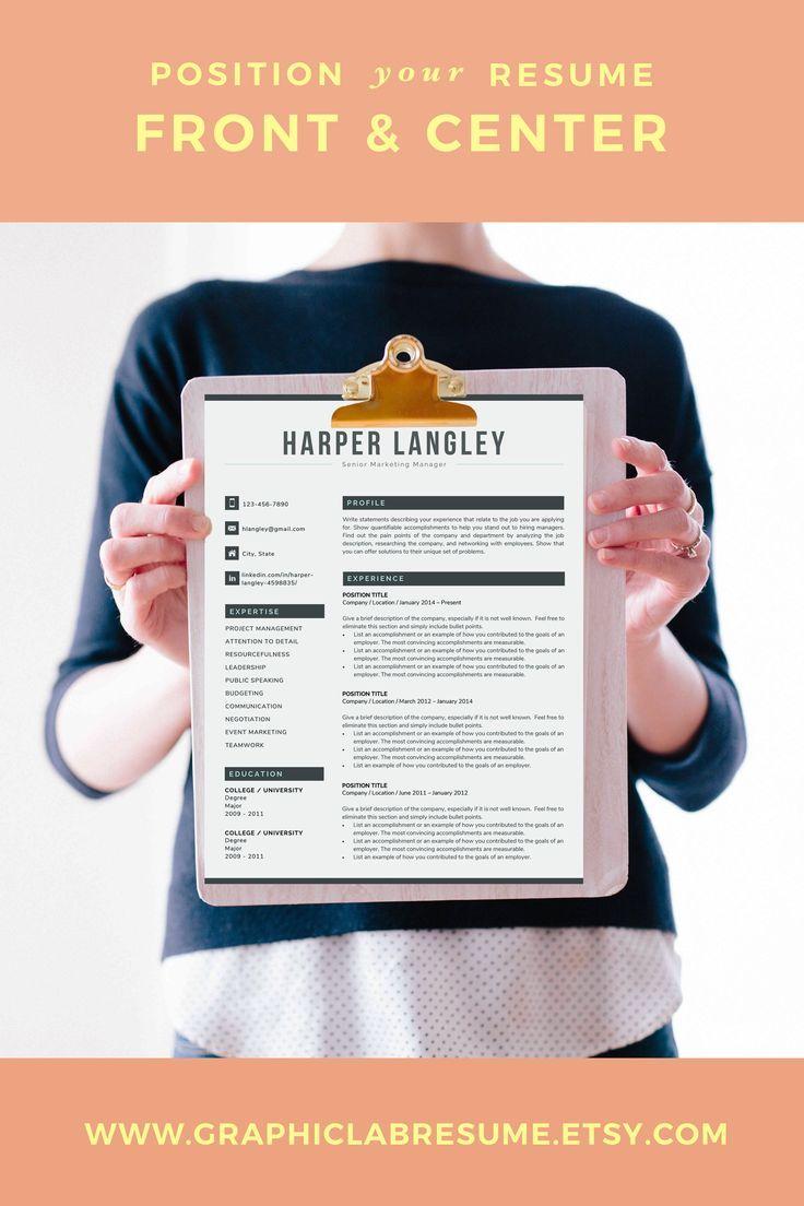Modern Resume Template for Word CV