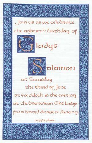 theme wedding invitations: Fall weddings, Winter weddings, Art Nouveau weddings, Pre-Raphaelite weddings, wedding certificates