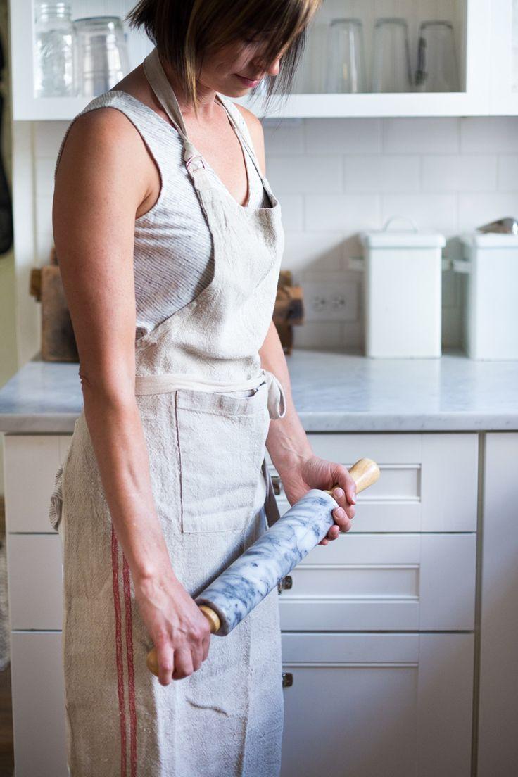 White apron brisbane - Vintage Linen Apron