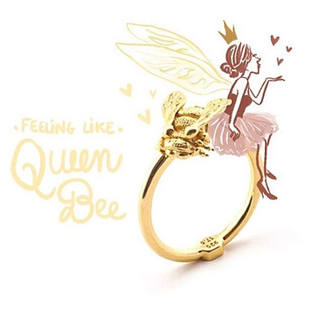 ✨ We are utterly blown away by @morganeca stunning #illustration featuring our Baby Bee ring! Thank you lovely! ✨ #BillSkinner #MorganeCarlier #French #ilustrator #BeeJewellery