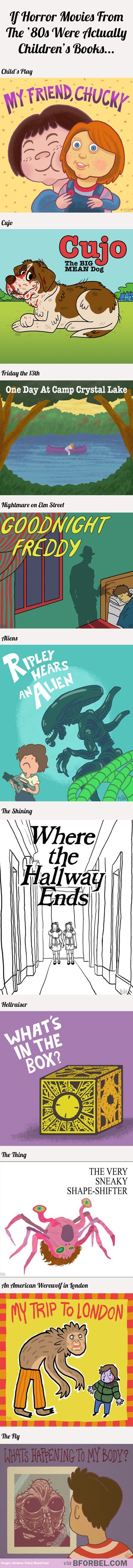 If horror movies from the '80s were actually children's books…