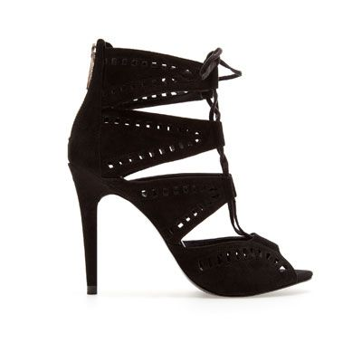 Image 1 of LACE-UP SANDALS from Zara
