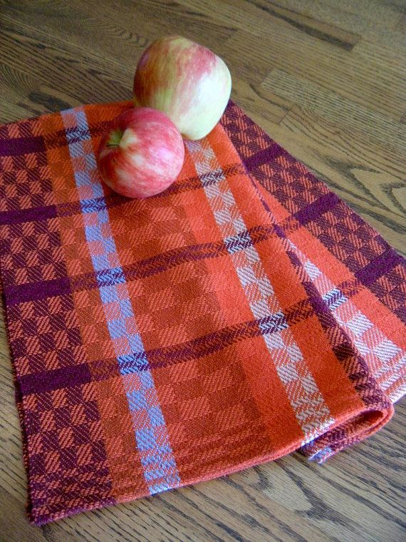 Beautiful Kitchen Towel, GOTS Certified Organic Yarn, Handwoven Towel, Hand Woven  Guest Towel, Tea Towel, Handwoven Dish Towel, Autumn Splendor #4