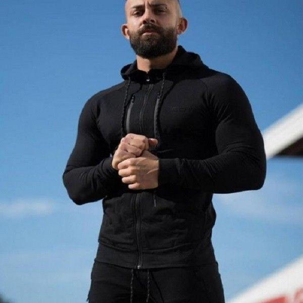 Echt Apparel Training Hooded Zip-up Open type Black ECHT Sportswear Gym Tainer #Drmuscle