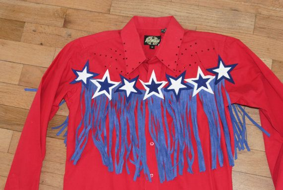 Was 115 00 Western Rodeo Queen Fringe Shirt For Barrel