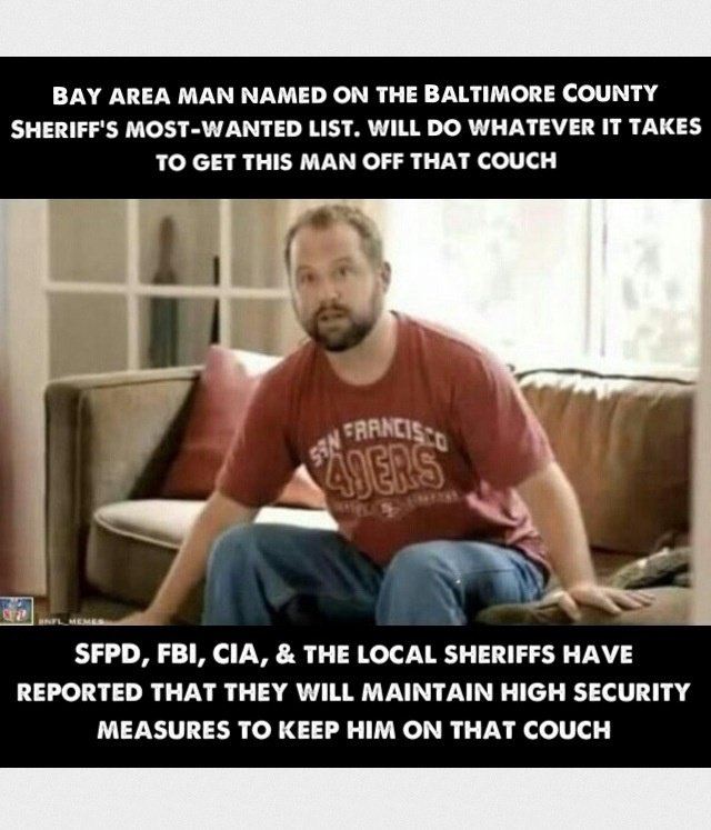Guy on sofa (With images) 49ers memes, 49ers