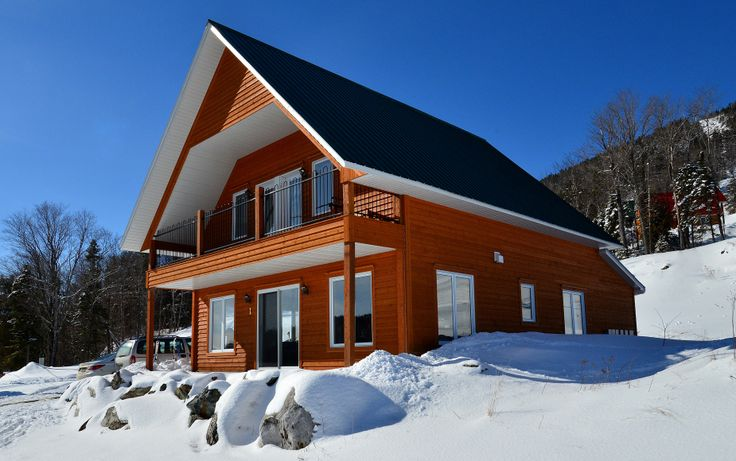 Chalets Bullard Villégiature Mont Adstock | Chalets à louer en bordure de la montagne #ski #snow #golf #cottage