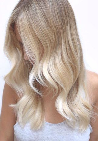 Sandstone Blonde - A beautiful blend of beige and taupe-like hues.  Sandstone is a hair color trend inspired by wind swept sands with soft shadowing and ripples of color. Pair a neutral root feathered down to lighter pieces of wheat and beige blondes to achieve this look.