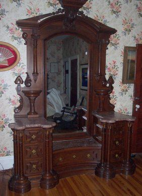 Gothic Revival Dresser TO DIE FOR $5000