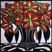 Hippeastrums by Gail Kellett, 70cm w x 70cm h