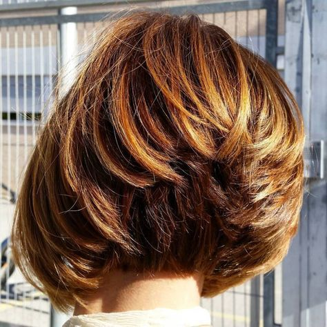 Short Stacked Bob For Thick Hair #shorthair