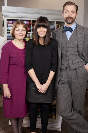The Great British Sewing Bee, Claudia Winkleman, May Martin, Patrick Grant