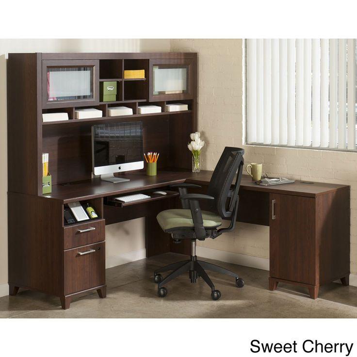 Bush Office Connect Achieve L Shaped Desk With Hutch
