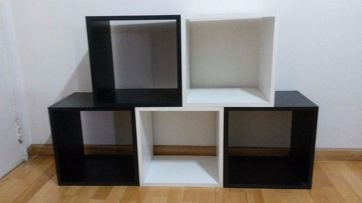 cubos de melamina negros 18mm masisa - 40x40x30 - oferta!!