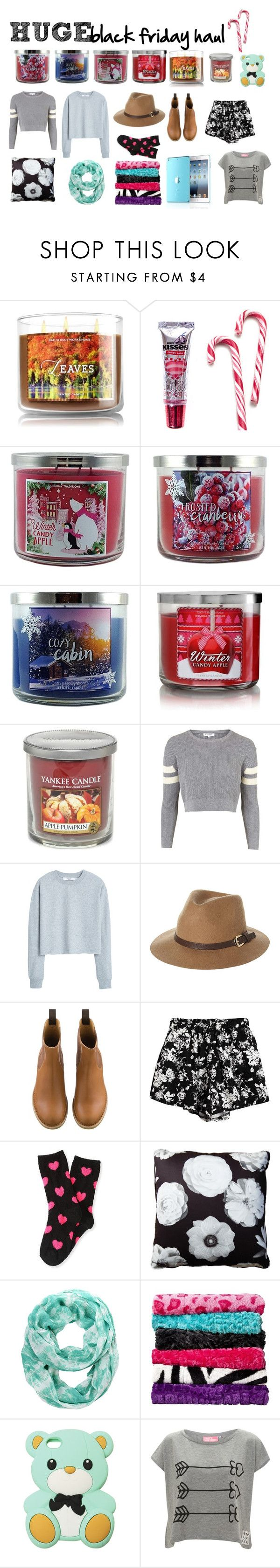 """""""HUGE black friday haul"""" by polyvore1357 on Polyvore featuring Hershey's, Yankee Candle, Topshop, MANGO, Rusty, Chicnova Fashion, P.S. from Aéropostale, Stuart Lawrence, Nine West and Xhilaration"""