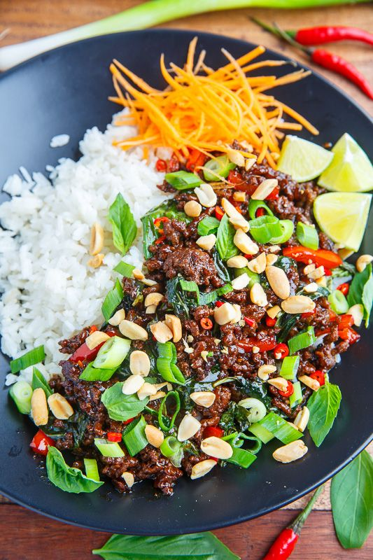 20 Minute Thai Basil Beef on Closet Cooking