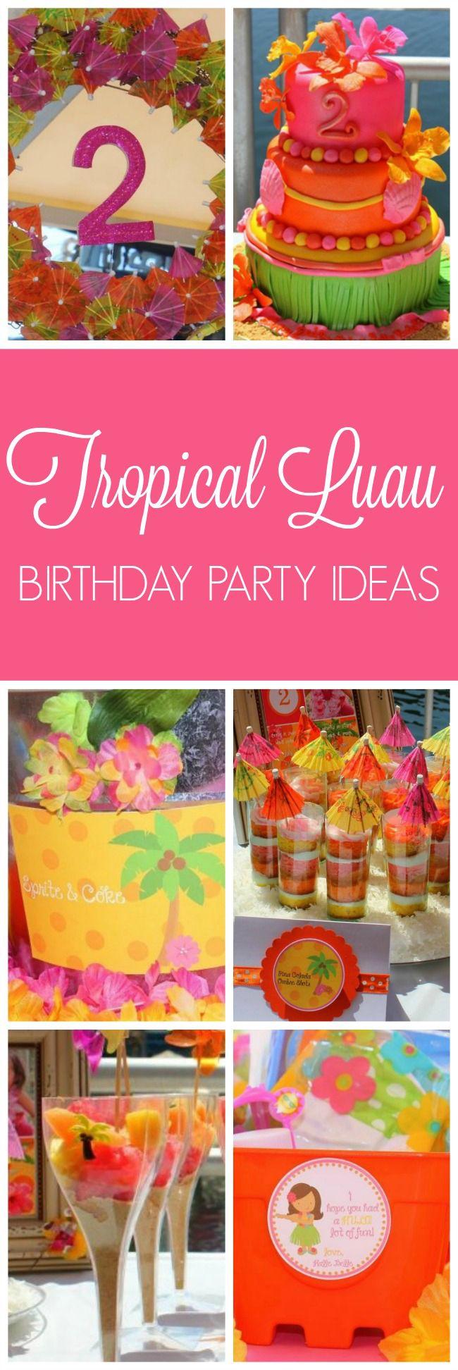 Tropical Luau Birthday Party | Pretty My Party