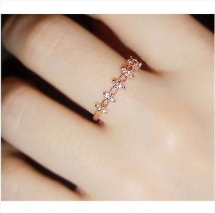 CZ Lace Flower Gold Ring