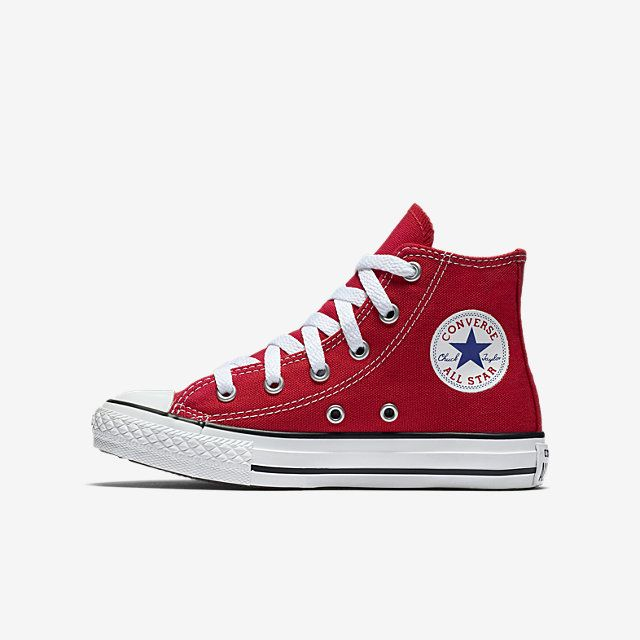 Converse Chuck Taylor All Star High Top Little Kids' Shoe Size (Red)