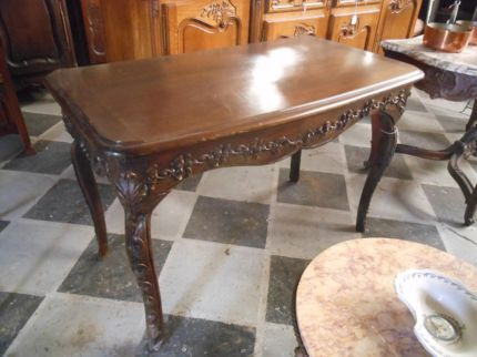 ANTIQUE  FRENCH 18th CENTURY PROVINCIAL WALNUT SIDE TABLE DESK