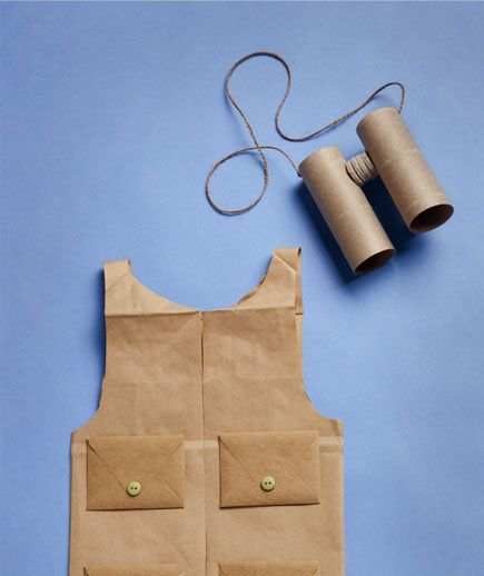 Dress up your kids in fun costumes you make with everyday household items.  By Krissy Tiglias