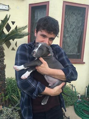 Josh with his new puppy :'3                                                                                                                                                     More