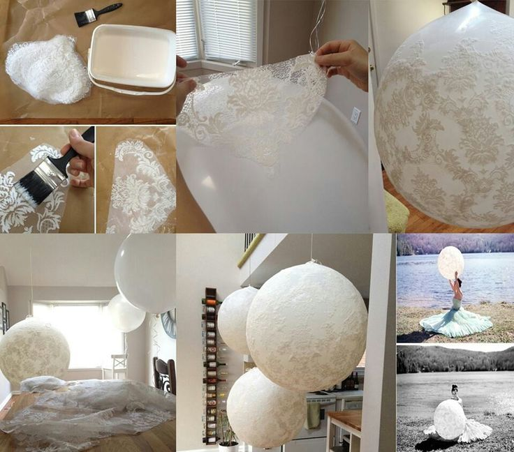 Lace balloon!! I love this!!!!