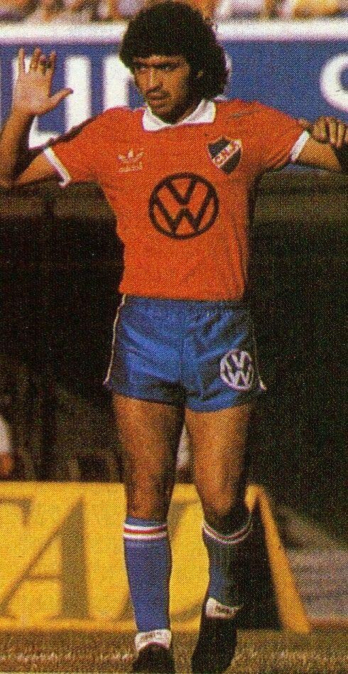 Carlos Aguilera of CD Nacional & Uruguay in 1983.