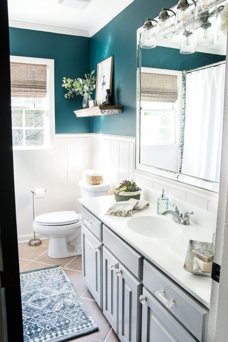 Kid S Guest Bathroom Makeover Reveal Bless Er House Bathroom