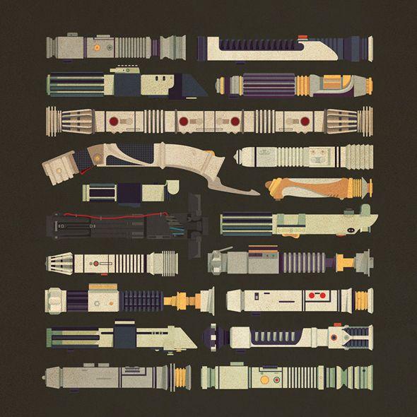 Tutte le spade laser di Star Wars in free download | PICAME