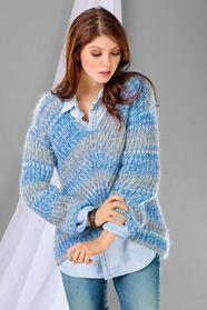 dámský ručně pletený svetr z příze Merino 105 Color a Kid Silk