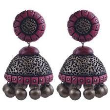 Image result for terracotta jewellery jhumkas designs