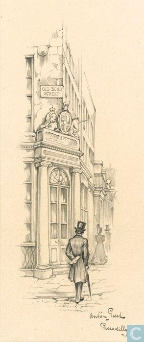 Tekening / schilderij - Pieck, Anton - Piccadilly