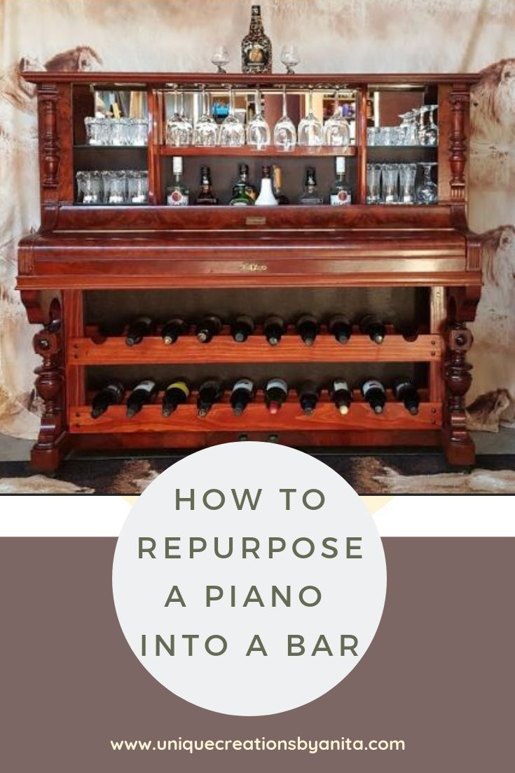 How To Repurpose A Piano Into A Bar Recycled Piano Upcycled Piano Home Diy Diy Decor Repurposed