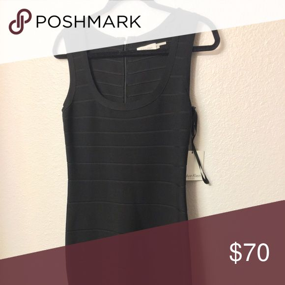 🆕‼️NWT Calvin Klein bandage dress Never worn perfect LBD! Sexy and smart black dress in size medium so it'll fit a 4/6/8.💲⬇️‼️ Calvin Klein Dresses