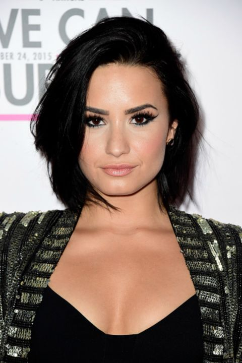 """Demi's bob has some face-framing layers and is textured all over,"" says Max Gierl, senior stylist at Mizu New York. ""The rounded look comes from first blowing it out with a round brush, then breaking it up with pomade or spray wax."" Better yet, he says you can easily nail this look by skipping shampoo for two or three days and then going for it."