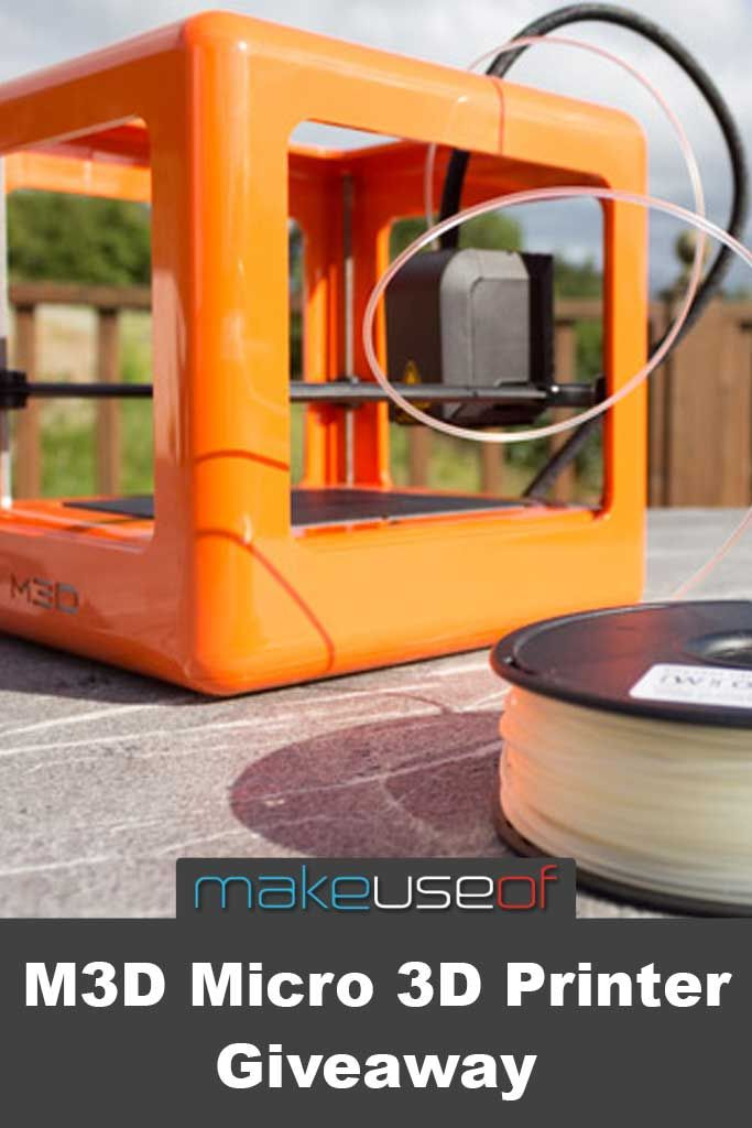We're giving away an M3D Micro – a fully assembled, high quality desktop 3D printer, worth $350 #giveaway #sweepstakes
